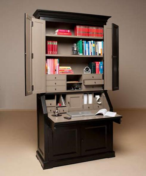 wandkast woonkamer bureau. Black Bedroom Furniture Sets. Home Design Ideas