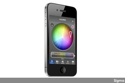 Sigma kleuren app interieur en kleur interieur for Application iphone temperature interieur