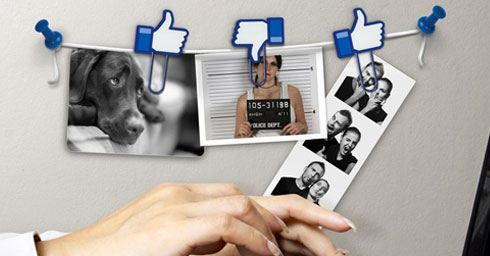 Facebook Like fotohouder