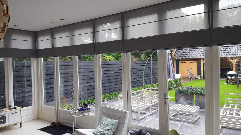 raambekleding zonwering interieur