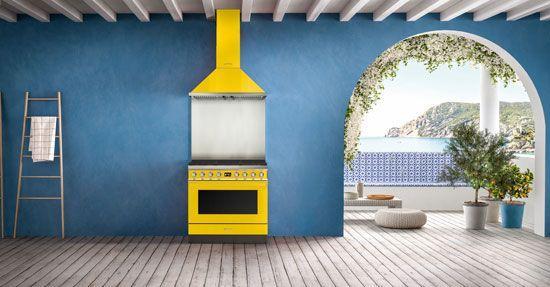 Keuken Industriele Smeg : Portofino fornuizen van smeg kooksystemen keuken