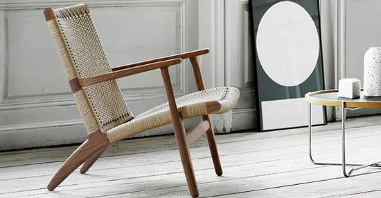 Leuke Design Fauteuil.Wegner Fauteuil In Notenhout Design Interieur