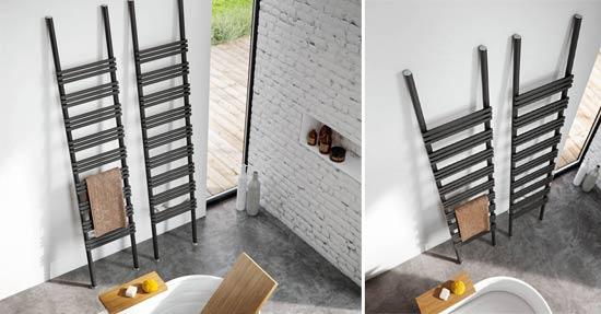 Designradiator vermomd als ladder | Badkamer radiatoren | badkamer