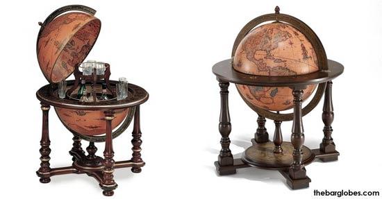 Whiskey tafel wereldbol wereldbol drank kabinet met