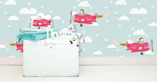 Behang Kinderkamer Vliegtuigen : Kinderbehang amsterdam grachtenpandjes in tinten grijs