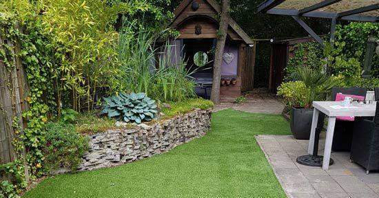 Gras en kunstgras tuin for Tuin aan laten leggen