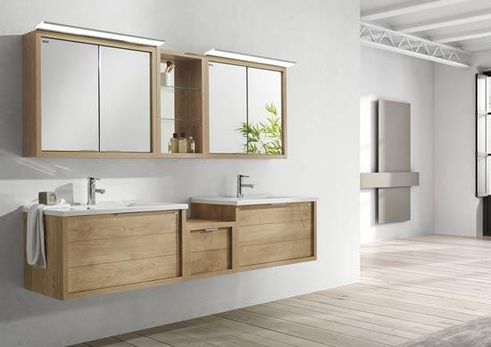 Comeback van hout in de badkamer badkamermeubelen badkamer