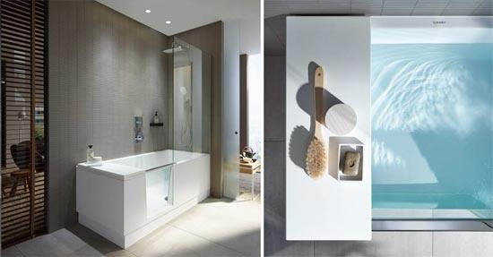 Walk-in douche en ligbad