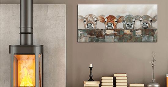 Woonkamer decoratie muurdecoratie