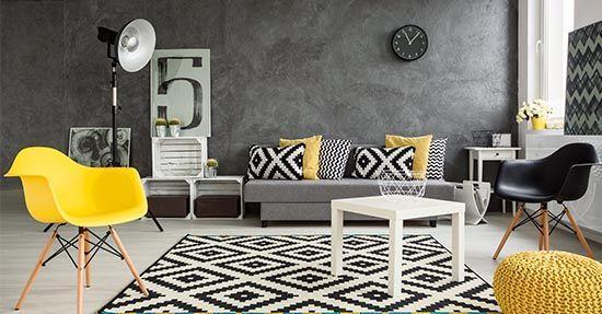De moderne kuipstoel past altijd meubels interieur