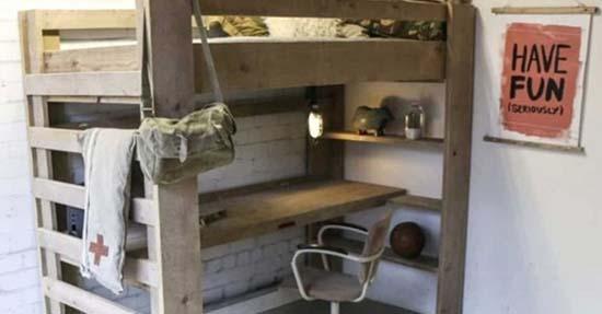 Kinderkamer Met Bureau : Tijd voor een bed met bureau kinderkamer slaapkamers
