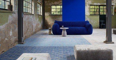 Blauwe Vloerbedekking Slaapkamer : Tapijt vloeren