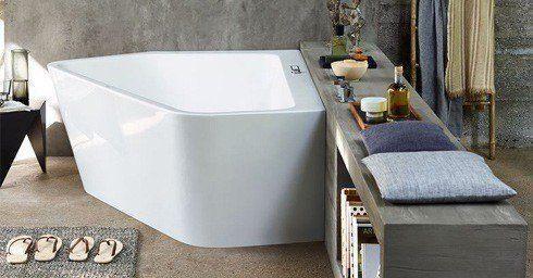 Ligbad als sculptuur | Douches | badkamer