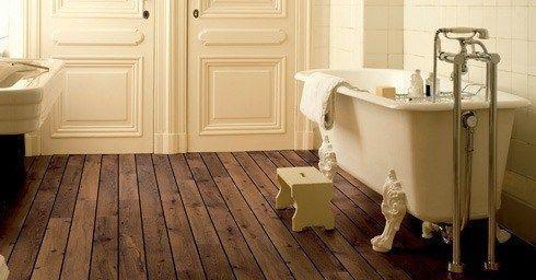 Houten vloer in de badkamer | Badkamervloer & wand | badkamer