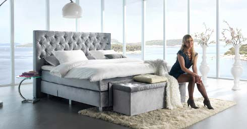 glamour in de slaapkamer bed en matras slaapkamers. Black Bedroom Furniture Sets. Home Design Ideas