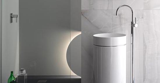 Zuilvormige wastafel | Wastafels | badkamer