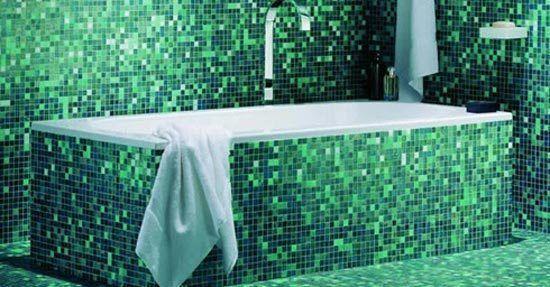 Mozaiek wand vloer badkamervloer wand badkamer