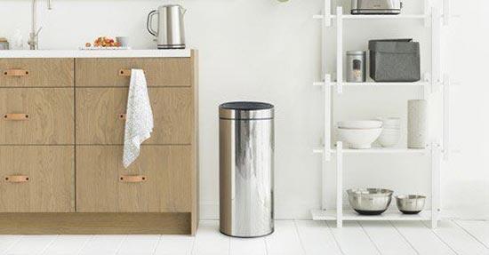 Afvalemmer Brabantia 30 Liter.Vol Van Kleur Huishoudelijk Keuken