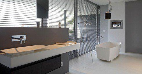 Badkamer Beton Interieur : Designvloer in de badkamer badkamervloer wand badkamer