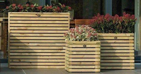 houten bloembakken intratuin