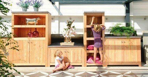 Houten Buiten Keuken : Buitenkeuken onder houten veranda de veranda vakman maakt het
