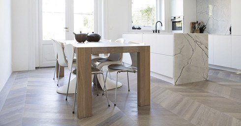 Moderne Houten Vloeren : Geschilderde houten vloer