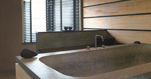 Badkamer en houten jaloezieën | Raambekleding - zonwering | Interieur
