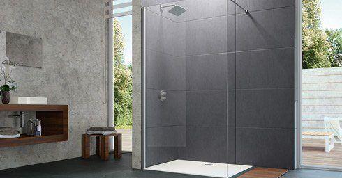 nieuwe walk in huppe douches badkamer. Black Bedroom Furniture Sets. Home Design Ideas