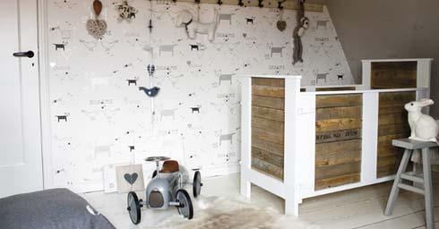 Behang Babykamer Romantisch : Behang voor babykamers behang wandbekleding interieur