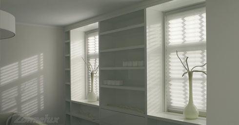 Plisségordijn voor raam raambekleding zonwering interieur