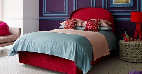 Nieuwe Slaapkamer Kleuren : Felle kleuren en natuurtinten bedtextiel slaapkamers