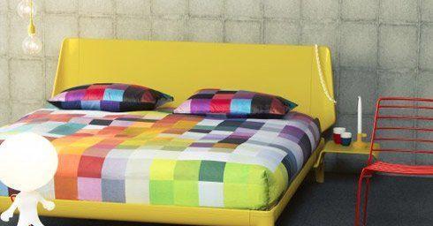 Slaapkamer Kleuren 016 : Slaapkamertrend regenboog bed en matras slaapkamers