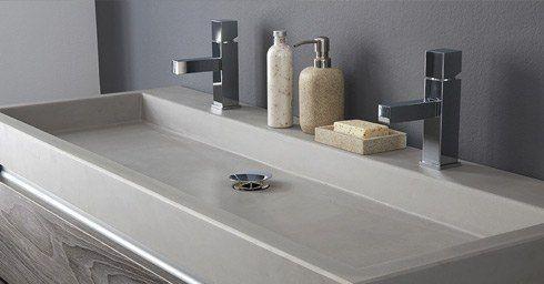 Wastafel Van Beton : Wastafels van beton wastafels badkamer