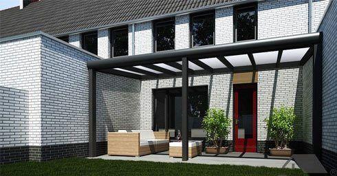 Terrasoverkapping als uitbouw balkon en terras tuin