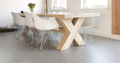Witte Marmoleum Vloer : Giet en betonlook vloeren vloeren page